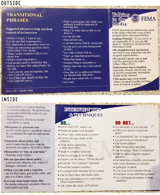 FEMA media card